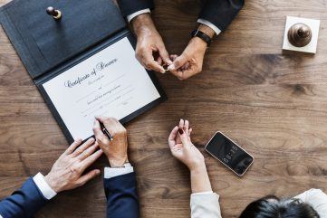 Brekaup marriage couple with divorce certification